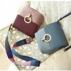 Image 3 - Сумка ведро BRIGGS из натуральной кожи, женская сумка через плечо, роскошная дизайнерская сумка через плечо