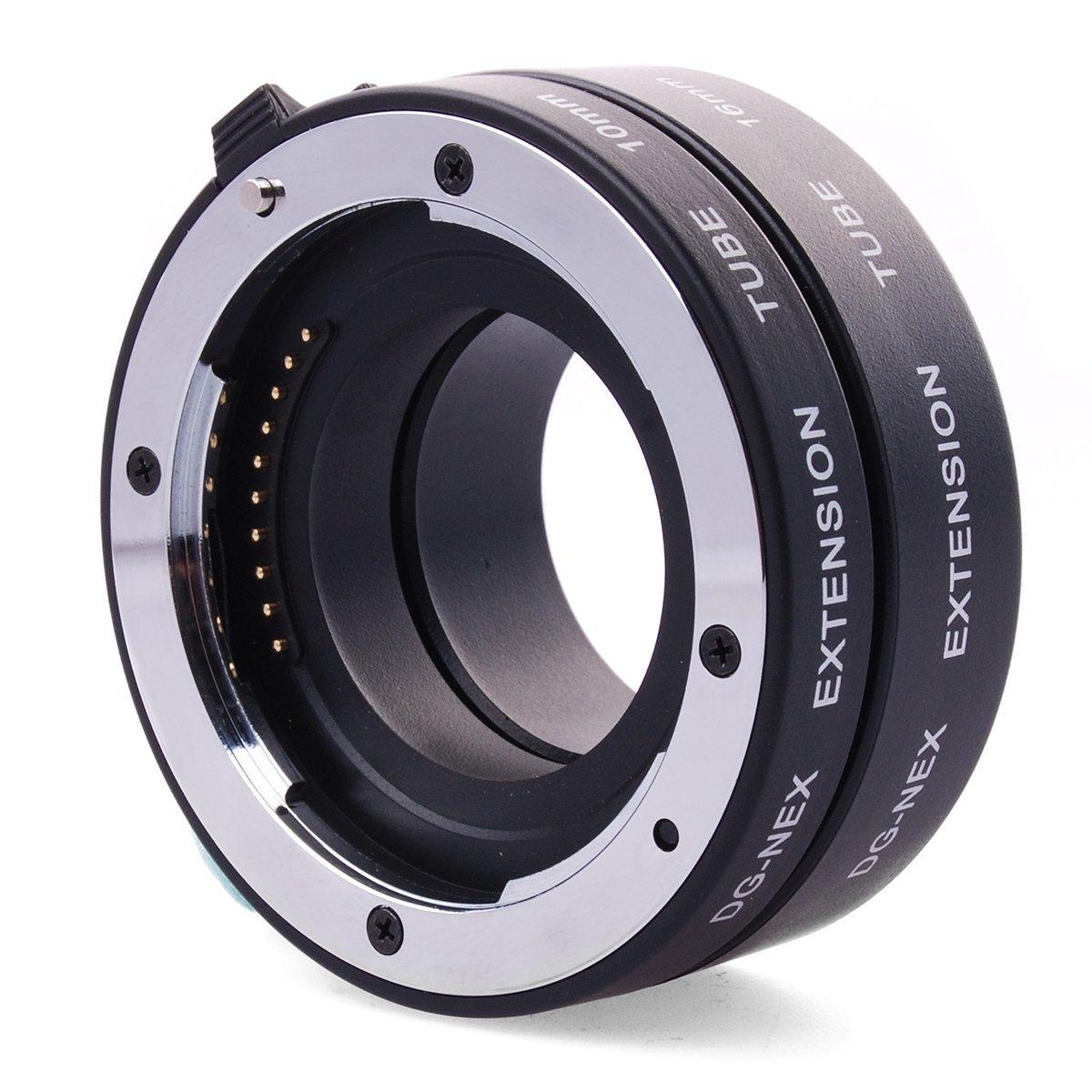 DG-NEX metal AF de enfoque automático macro e autofocus tubo de extensión de metal para Sony e-mount NEX-7 NEX-6 NEX-5R NEX-5T NEX-3N NEX-F3