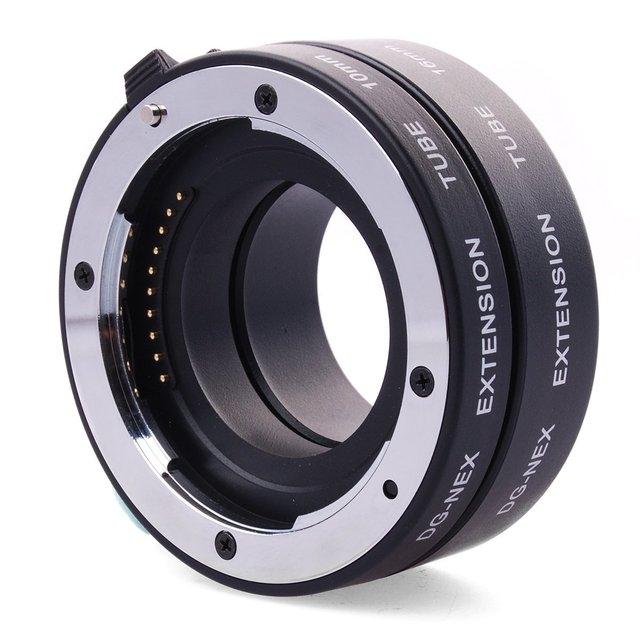 Dg-nex metal enfoque automático af macro e de enfoque automático de metal tubo de extensión para sony e de montaje nex-7 nex-6 nex-5r nex-5t nex-3n nex-f3