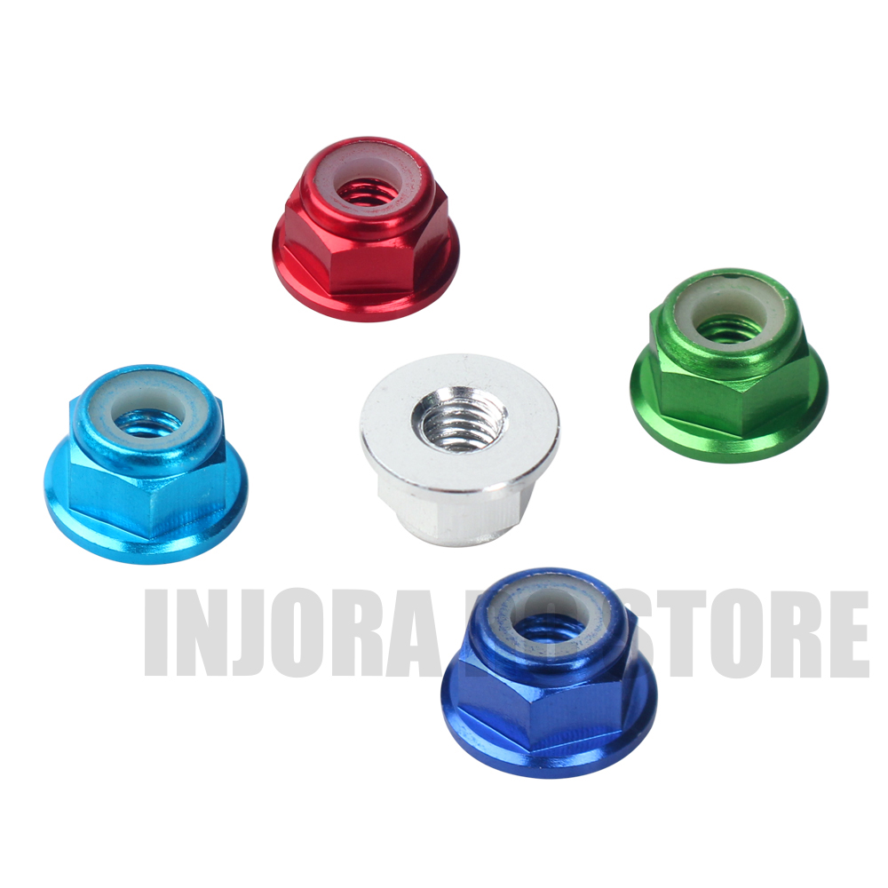 Metal 8Pcs/<font><b>Set</b></font> M4 <font><b>Wheel</b></font> Hex 4mm Lock Nut for 1:10 <font><b>RC</b></font> Rock Crawler Traxxas TRX-4 Slash 2wd SCTE 4x4​ Axial SCX10 90046 D90 image