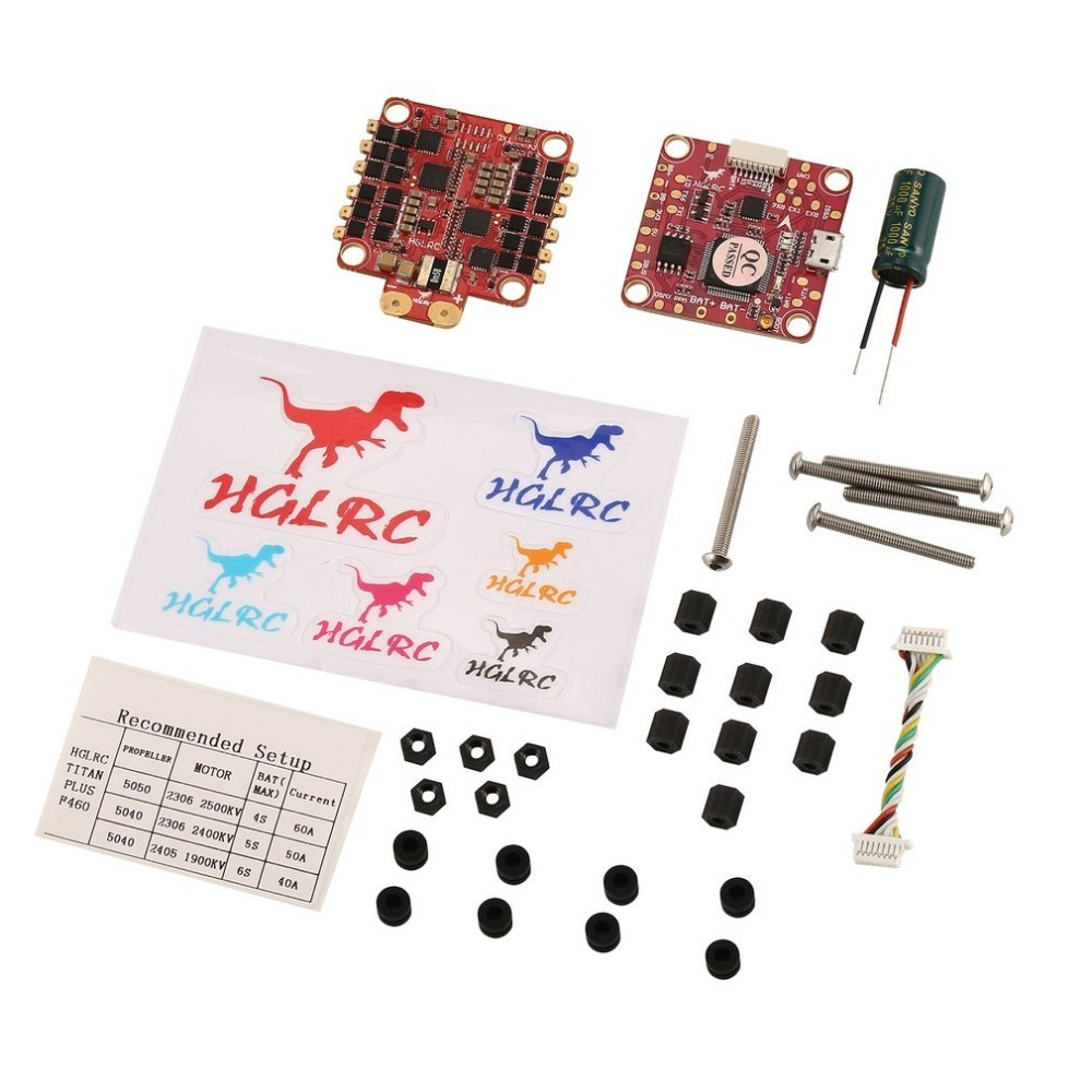 купить HGLRC Titan Plus F460 Stack AIRBUS F4 Flight Controller FC OSD & Dinoshot1200 60A Blheli_32 ESC for RC Racing Drone Quadcopter онлайн
