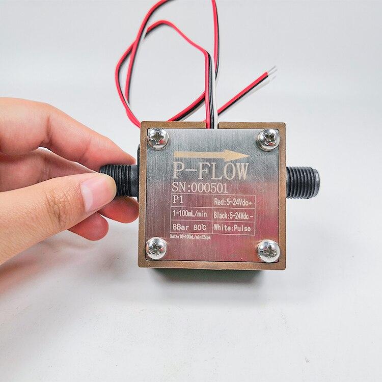 1-100 мл/мин. Диапазон потока PPS пластиковый материал микро Овальный зубчатый расходомер