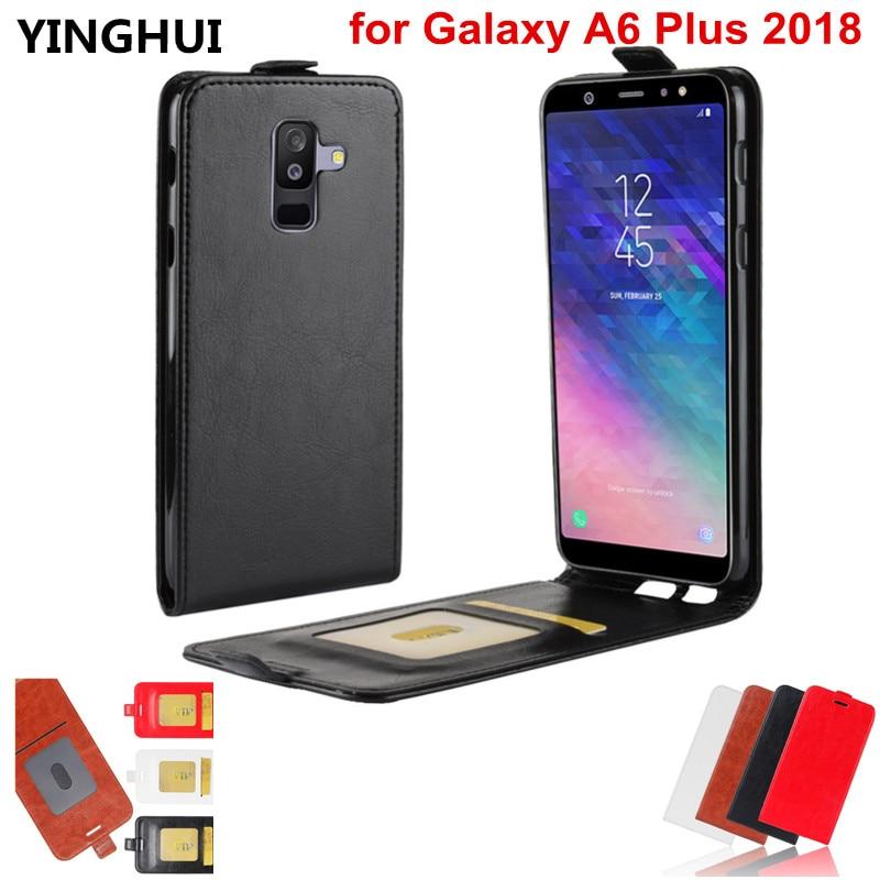 Вертикальная откидная крышка для samsung Galaxy A6 плюс 2018 чехол 6,0 дюймов телефон Случаи кожаный чехол для Galaxy A6 плюс 2018 крышка