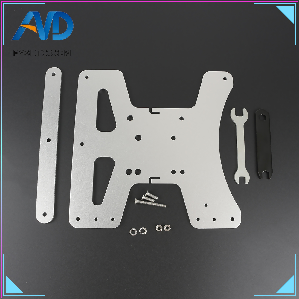 Cloned Aluminum Y-Carriage Plate Kit Heated Bed Supports 3-Point Leveling  Upgrade For Creality Ender 3 Ender-3 Pro Ender-3S