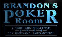 X0068 Tm Brandon S Poker Room Custom Personalized Name Neon Sign Wholesale Dropshipping