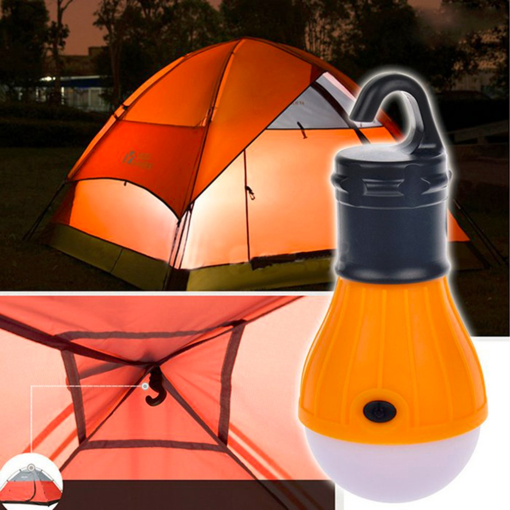 2016 Super Deals 3 LED ABS Ultra Bright Outdoor Handle Camping Lamp Tent Light With Lampshade Circle Fishing Hanging Lighting