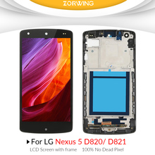 100% no dead pixel lcd display for LG goole Nexus 5 D820 touch screen digitizer for LG D821 lcd assembly with frame все цены
