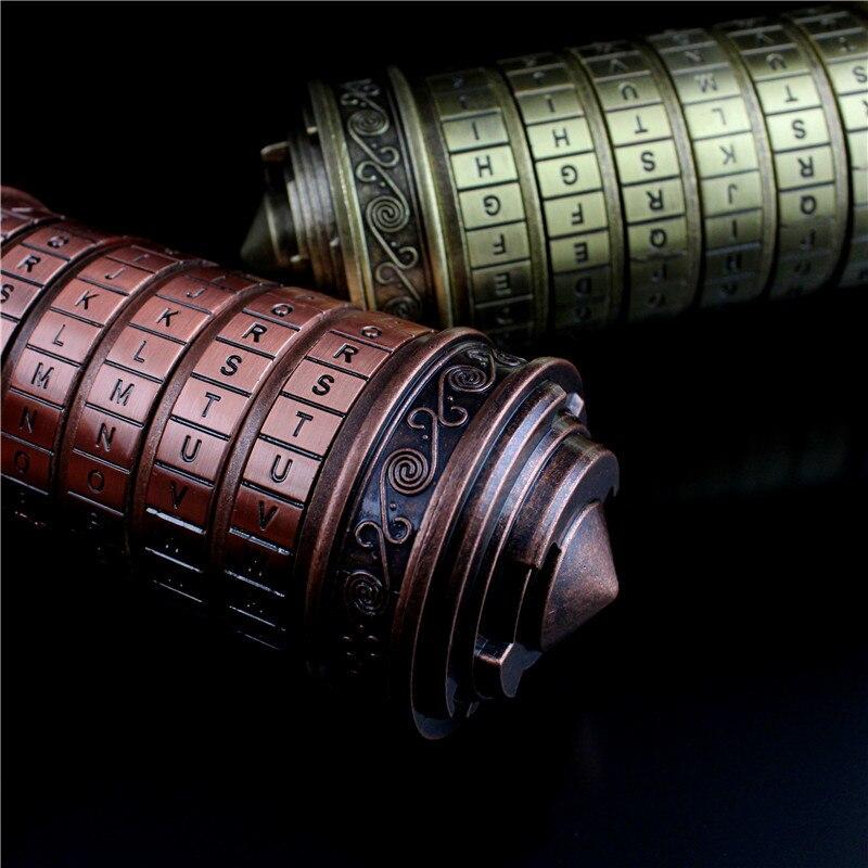 Leonardo da Vinci code jouets métal Cryptex serrures mariage anniversaire cadeaux saint valentin cadeau LetterPassword échapper chambre accessoires - 4