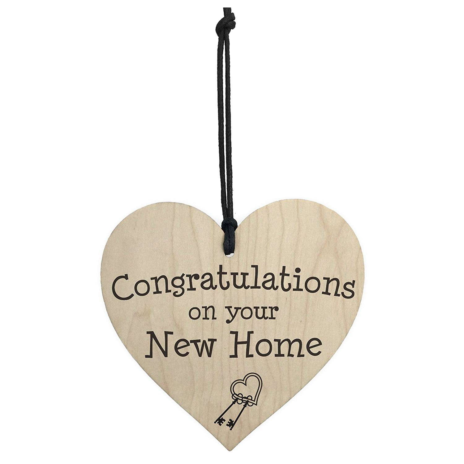 HOT SALE Congratulations On Your New Home Wooden Hanging Heart Plaque Moving In Present