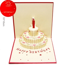 Приветствие обычай пожелания приглашения сообщения резка всплывающие подарочные открытки торт лазерная