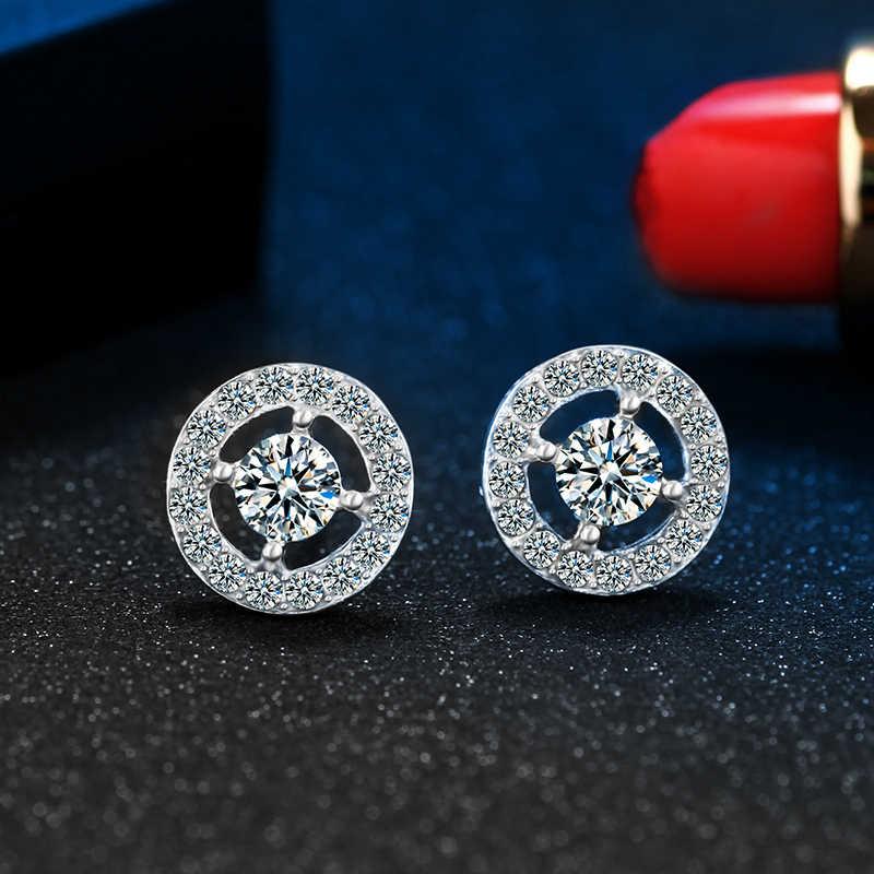 Terbaik Jual Fashion Crystal Stud Earrings Emas Warna Perak Anting-Anting untuk Wanita 2018 Populer Perhiasan Dropshipping A20