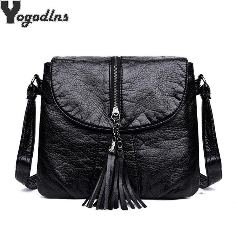 Hot Sale Soft Leather Women Bag Metal Tassel Decor Handbags Lady Shoulder Crossbody Messenger Bag Female Purse Tote Bag
