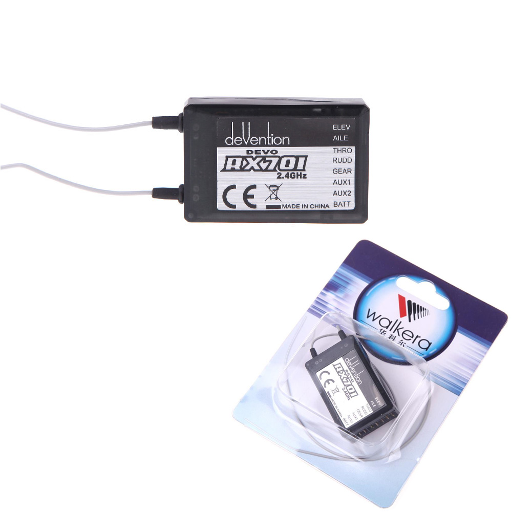 1pcs Walkera RX701 2.4Ghz 7ch Receiver RX-701 For Walkera Devo 6/7/8s/12s/F7 Transmitter RC Helicopter Aircraft