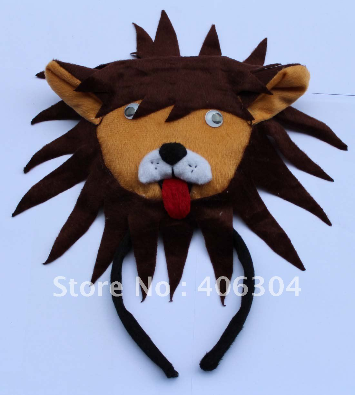 Короткий плюш, животное серия обруч на голову «Львенок», ободок для вечеринки, на Пасху, вечерние, Рождество, день детей