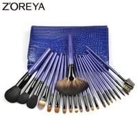 Zoreya Brand Top Quality 22pieces Set Lady Make Up Brush Kolinsky Hair Professional Cosmetic Brush Set