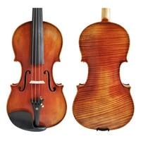 Free Shipping Copy Stradivarius 1716 100% Handmade Oil Varnish Violin + Carbon Fiber Bow Foam Case FPVN04 #3
