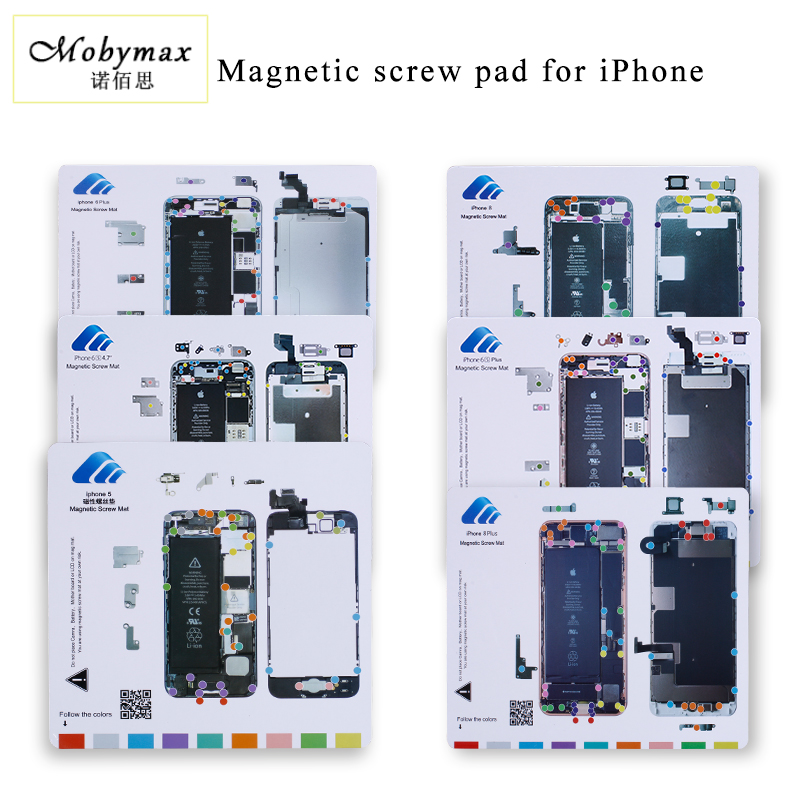 Professional magnetic screw mat work pad for iphone 5 6 6p 6s 6sp 7 7p iphone Repair tools one set