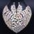 Dubai Sistemas de La Joyería de Lujo Cristalino Grande Collar pendientes establecidas para Las Mujeres Fiesta de Navidad de accesorios