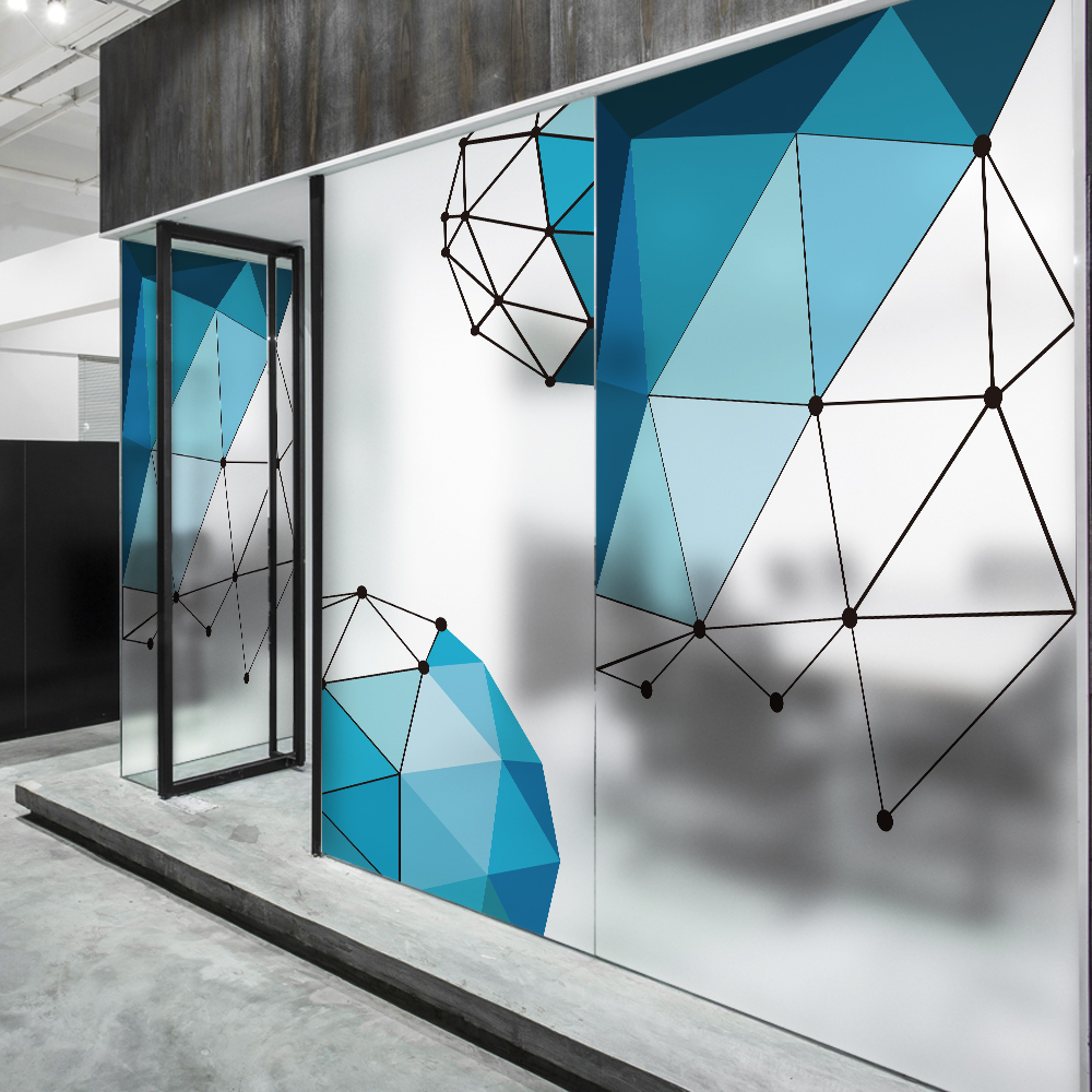 Geometric Gl Window Film Sticker