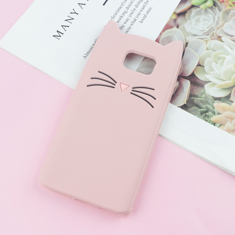 3D Cute Japan Glitter Bearded Cat Case For Samsung Galaxy S3 Neo S5 S6 S7 Edge S8 S9 Plus S10e S10 Lite Cute Squishy Cover
