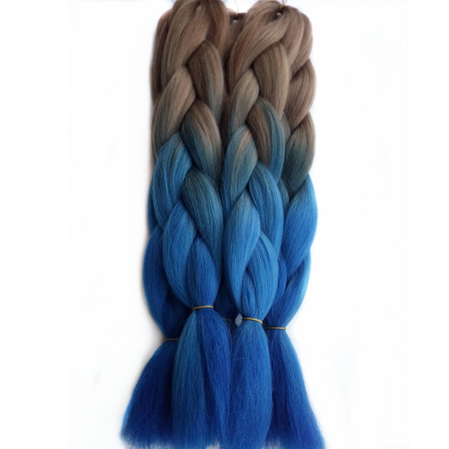 Jumbo Braids Careful Xtrend 82inch Long Synthetic Kanekalon Braiding Hair Extensions Jumbo Braids Crochet Hair Gray Pink Blue Purple Heat Resistant