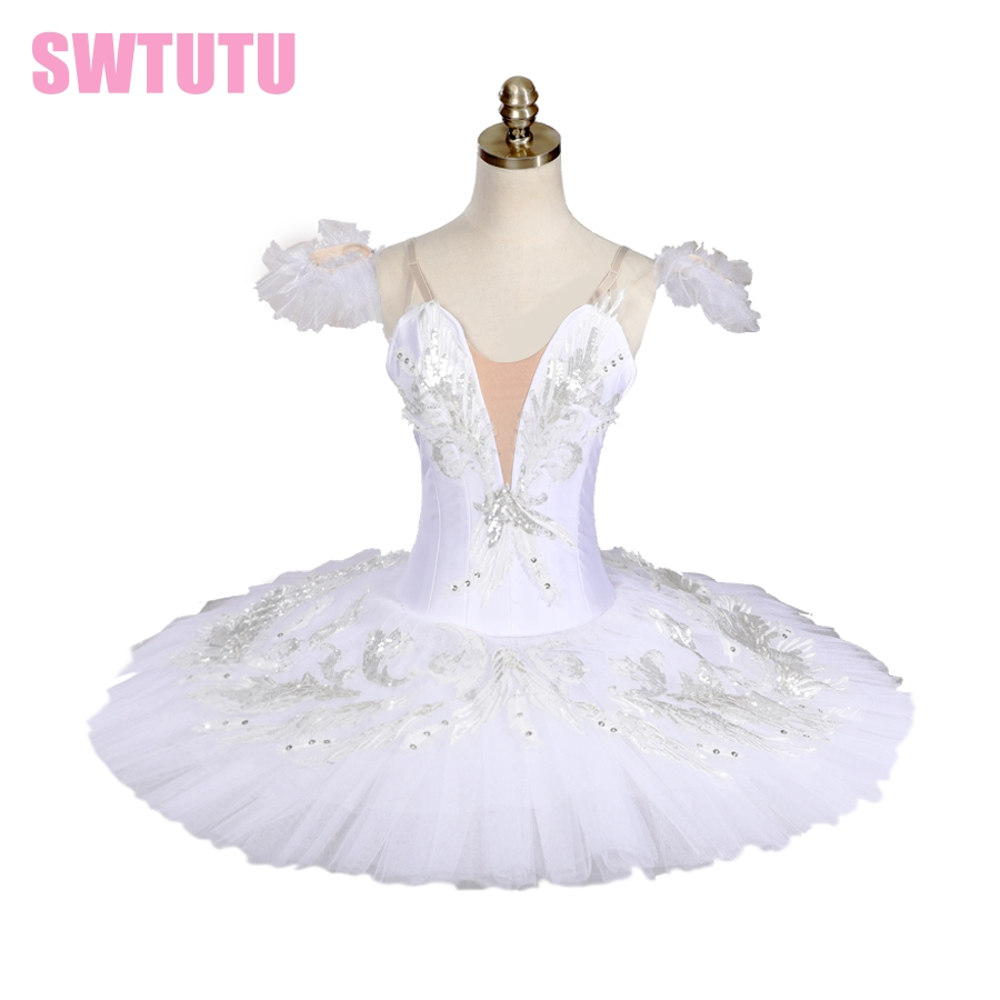 free shipping classical white swan ballet tutu,professional ballet tutu for girls pancake tutu ballet costumes BT9035