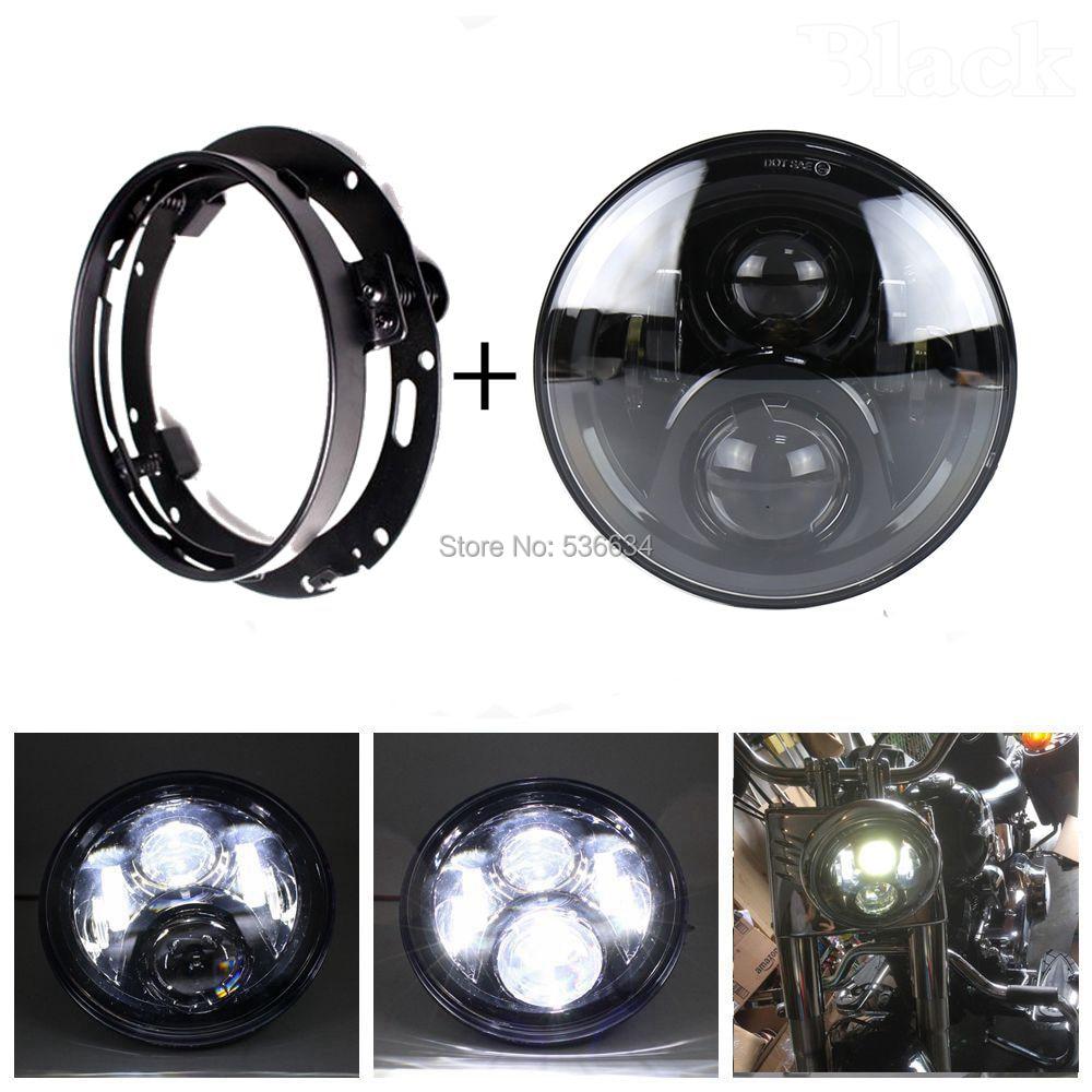 7-дюймовый светодиодный круглый проектор Daymaker фары Привет/низкий + светодиодные фары Кронштейн кольцо для Электра Глайд Ультра Классик