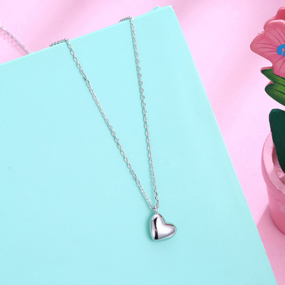 Grace Moments Fashion Simple Heart 925 Sterling Silver Necklaces Love Pendant Necklaces Women Party Wedding Necklaces Jewelry