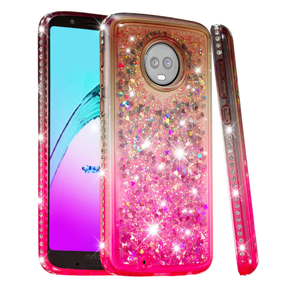 30pcs For Motorola Moto G6 2018 G6 Plus E5 Plus E5play Bling Liquid Sand Diamond Gradient Tpu Phone Case Quicksand Cover Shell Relieving Heat And Sunstroke Cellphones & Telecommunications