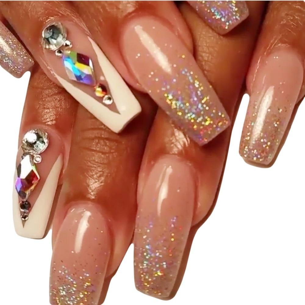 10pcs glitter crystal 3d nail art flat back rhinestones for nails decorations new arrive stone 50 designs 10pcs flower square rhinestones pearl jewelry nail art design 3d nails decorations new arrive y644 651