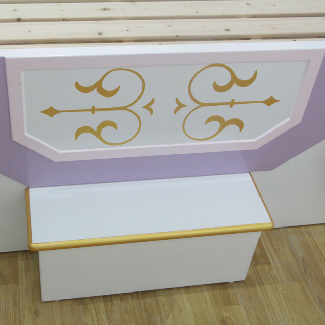 Custom Wood Boy Girl Children Suite Furniture Pumpkin Carriage Creative Painting