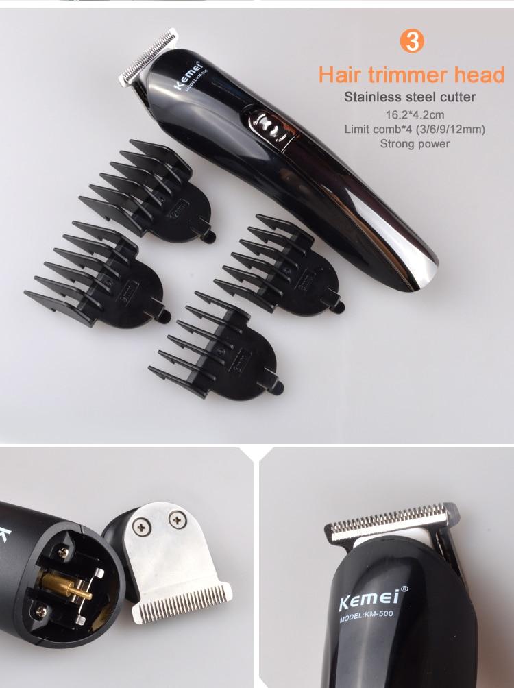 Kemei KM-500 8 in 1 Hair Clipper Electric Trimmer 8