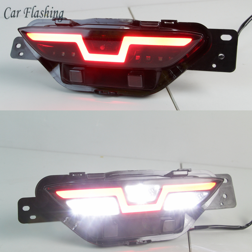 CSGJMY 1PCS For TOYOTA C HR CHR 2016 2017 2018 2019 LED driving rear bumper lights