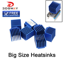 все цены на 3DSWAY 3D Printer Parts 4pcs/lot Stepper Motor Driver Heat sinks Cooling Block Heatsink for TMC2100 LV8729 DRV8825 Drive Modules онлайн
