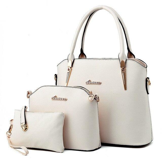 Women Bags Luxury Handbags Famous Designer Women bags Casual Tote Designer High Quality 2018 NEW Interior Slot Pocket Top-Handle Bags