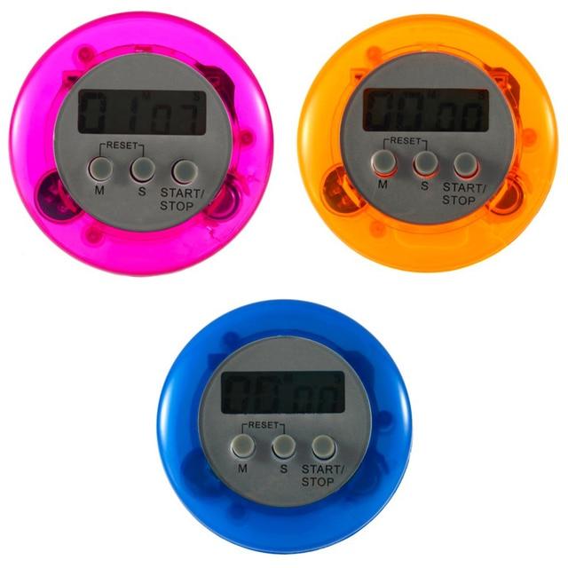 New Design Home Útil Plástico ABS Rodada Alarme LCD Digital Kitchen Timer  De Contagem Regressiva Com Part 98