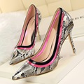 New Spring Summer Pumps Serpentine Sexy High Heels Shoes Star Thin Heels Shallow Transparent Pointed High-heeled Shoes G514-1
