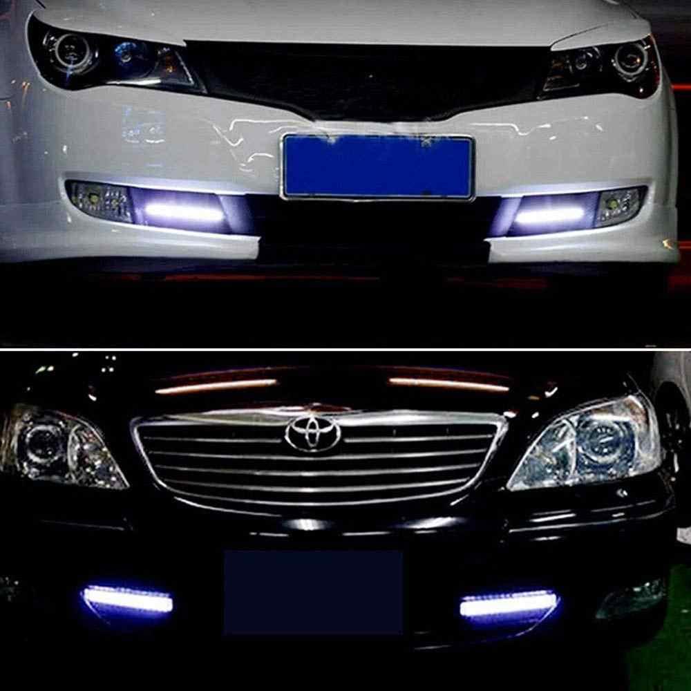 17cm 12V COB LED DRL conducción luces de circulación diurna tira resistente al agua estilo del coche LED lámpara Auto luz de trabajo del coche #2