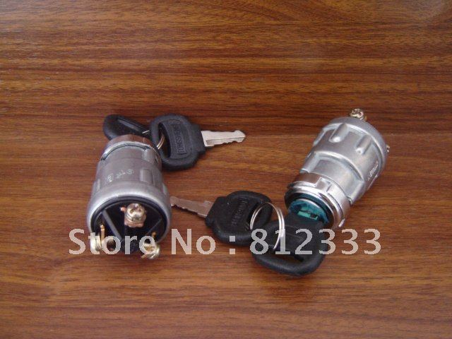 JK 423 3 Wire Key Switch ALUNINUM CASTINGS LARGE CURRENT IGNITION KEY SWITCH FOR FORKLIFT TRUCK