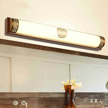 New High End Classical Chinese Style Acryl Aluminum Led Mirror Light For Bathroom Bedroom Living Room Wall Lamp 1026