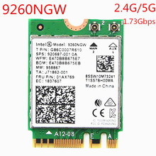 1730Mbps Wireless 9260NGW Wifi Network Card For Intel 9260 AC Dual Band NGFF 802.11ac Wifi Bluetooth 5.0 for Laptop Windows 10