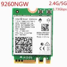 Беспроводная сетевая карта 9260NGW, 1730 Мбит/с, Wi Fi, для Intel 9260 AC, двухдиапазонный NGFF 802.11ac, Wi Fi, Bluetooth 5,0 для ноутбука, Windows 10
