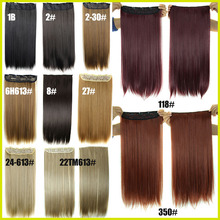 1Pc Clip In Hair Extensions Synthetic Hair Extension One Piece Full Head Long Straight Natural Hairpiece Good Gifts D1012