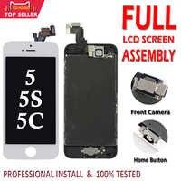 Ensemble complet écran LCD pour iPhone 5 5C 5S 5G écran LCD tactile numériseur assemblage complet LCD remplacement pantalon + bouton accueil + caméra