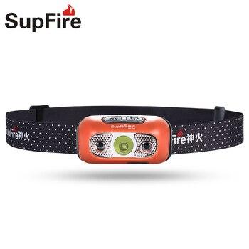 Đèn pin Supfire Đèn Pha Đèn LED CỔNG USB Lanterna LED HL05 Đèn Cắm Trại Đi Bộ Đường Dài Đầu Đèn Pin Sáng cho Imalent Fenix Sofirn Đoàn Tàu Vận Tải S111