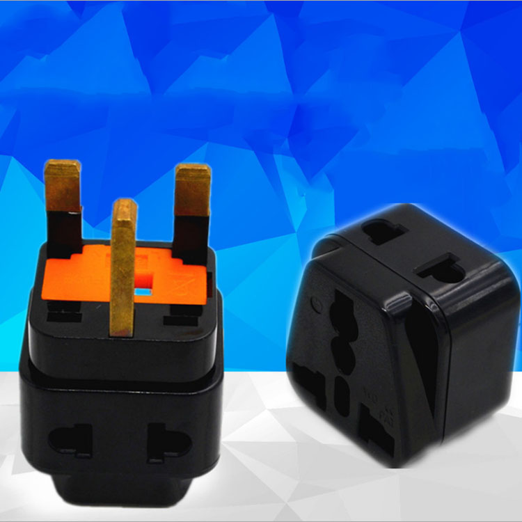 5PCS UK British Travel Adapter Type G, 2 Outlet AC Plug Convert EU/US/AU/China/Japan...Plug Black Color