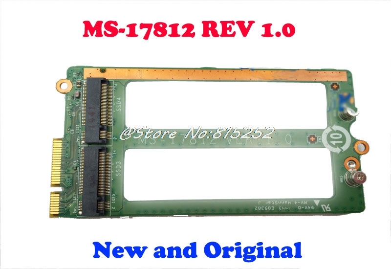Laptop SSD Hard Disk Card Slot For MSI GT72 2QD GT72S MS 1781 (A) (CA43) 1782 MS 17812 REV 1.0 17812 01S 001 New and Original-in Computer Cables & Connectors from Computer & Office