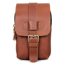 Waist Bag Men Genuine Leather Bags Money Belt Pouch Bag for Phone
