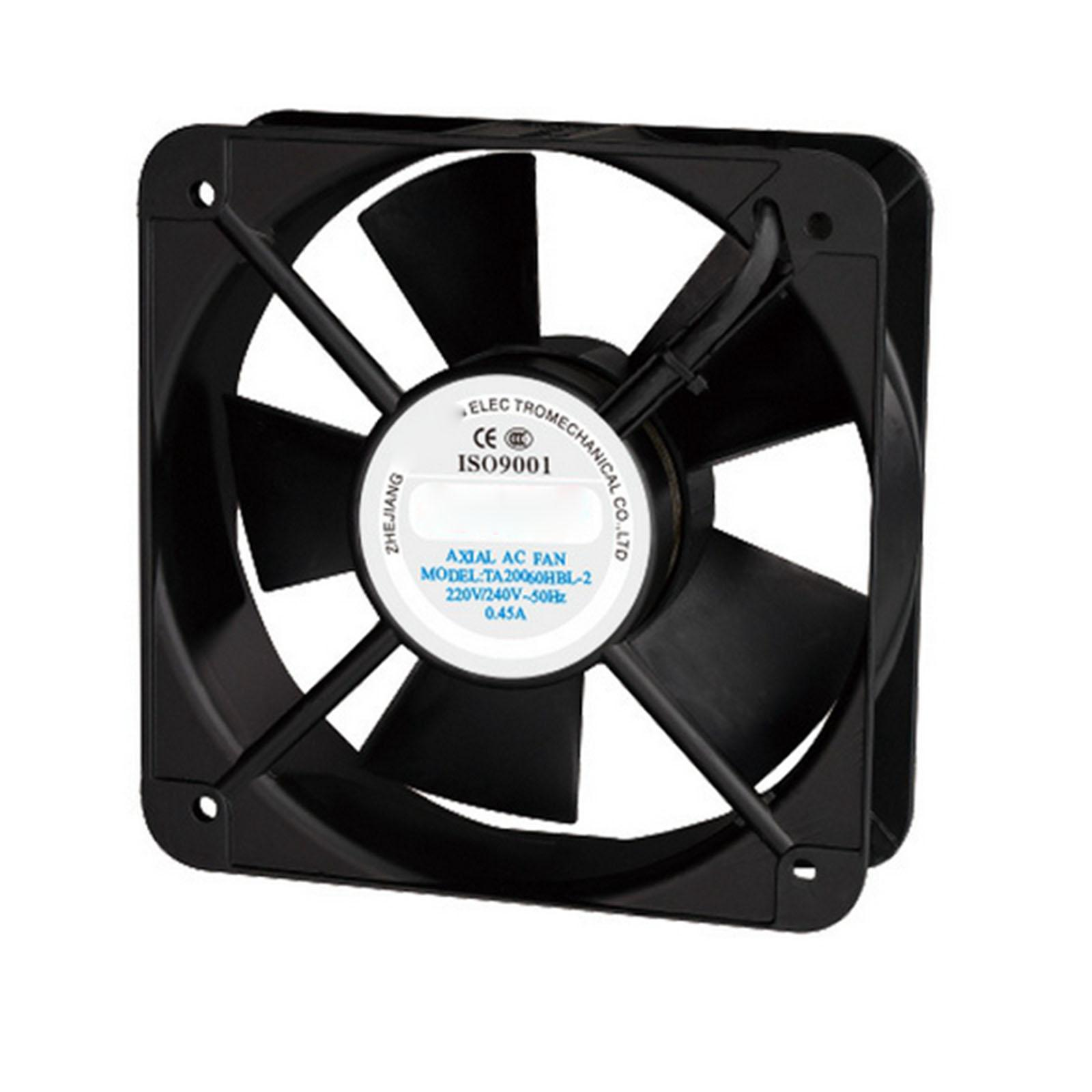 220V AC 200x200x60mm Axial Radiator Fan 285CFM 2500RPM Ball Bearing High Speed 220v ac 280x280x80mm axial radiator fan 1341cfm 2400rpm ball bearing high speed