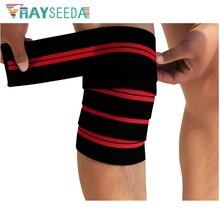 180 см высокий эластичный бинт наколенники обертывания Для мужчин Для женщин Фитнес спортивный наколенник защиты для езды восхождение на запуск Trainning